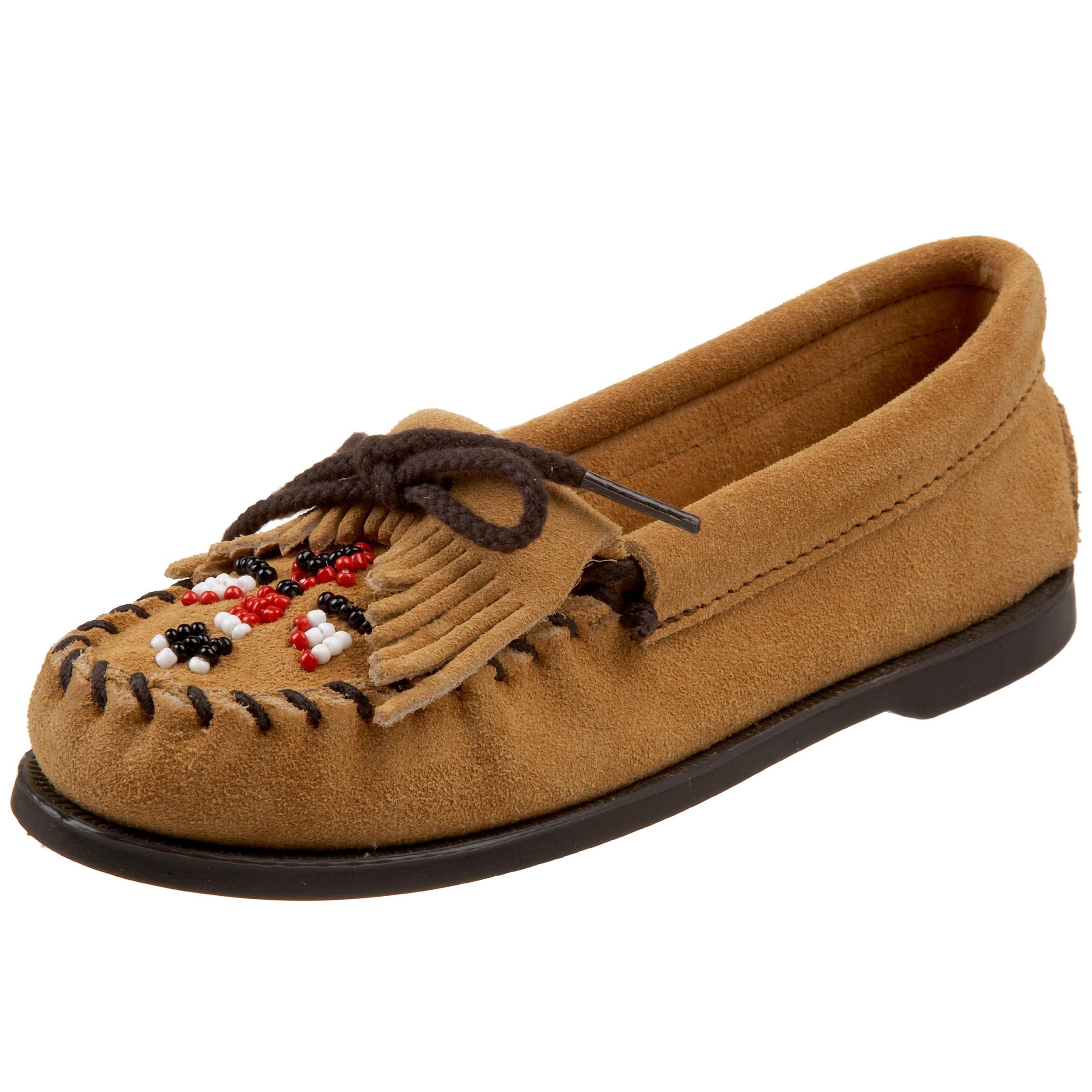 Minnetonka Thunderbird Moccasin (Toddler/Little Kid),Tan,9 M US Toddler