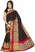 Royal Export Women's Cotton Silk Saree (black)