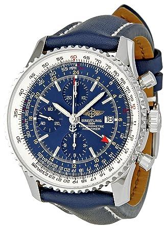 8c2d76638 Amazon.com  Breitling Men s A2432212 C651 Navitimer World Blue Chronograph  Dial Watch  Breitling  Watches