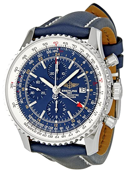 Breitling de Hombre a2432212/C651 Navitimer Mundo Azul cronógrafo dial Reloj: Breitling: Amazon.es: Relojes