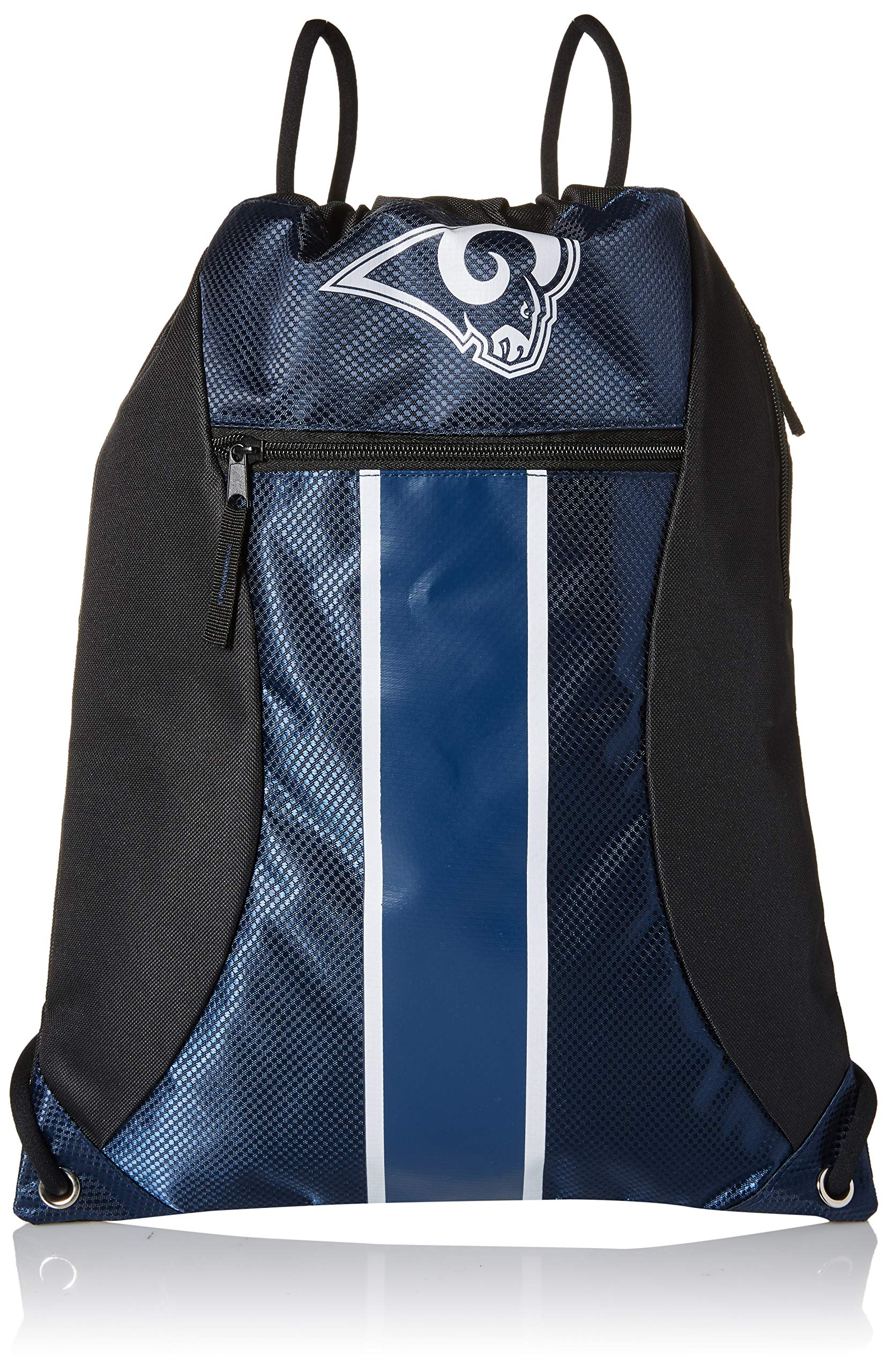 Los Angeles Rams Big Stripe Zipper Drawstring Backpack
