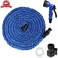 Expandable Garden Hose, Airsspu 25FT Lightweight&Strongest Flexible Expanding Garden Hose Kit, Heavy Duty Pressure Water Hose Satisfy for Car Wash,Cleaning, Lawn and All Watering Needs(Blue)