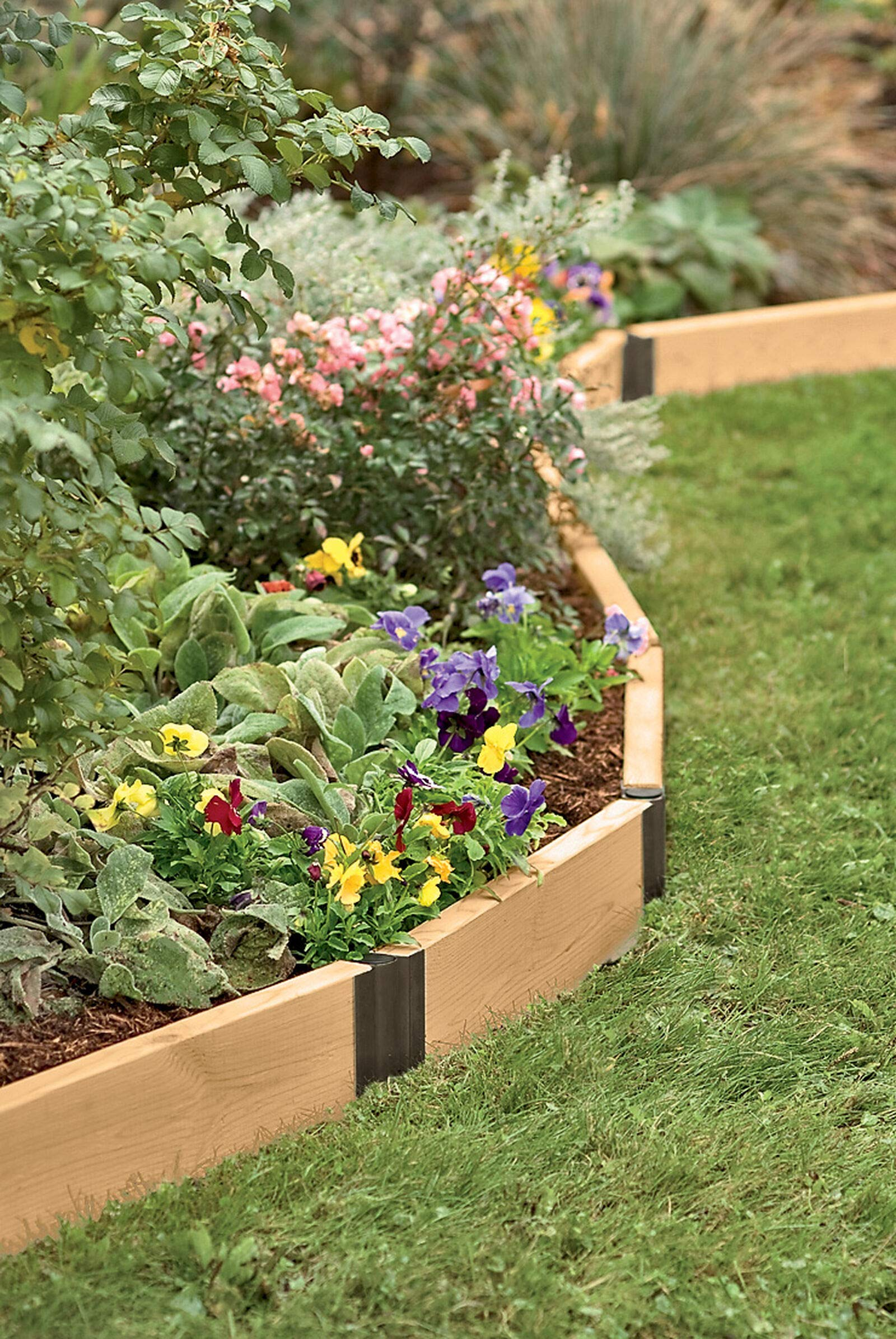Raised Bed Corners, Pivoting Connectors, 12 Inch Set of 2