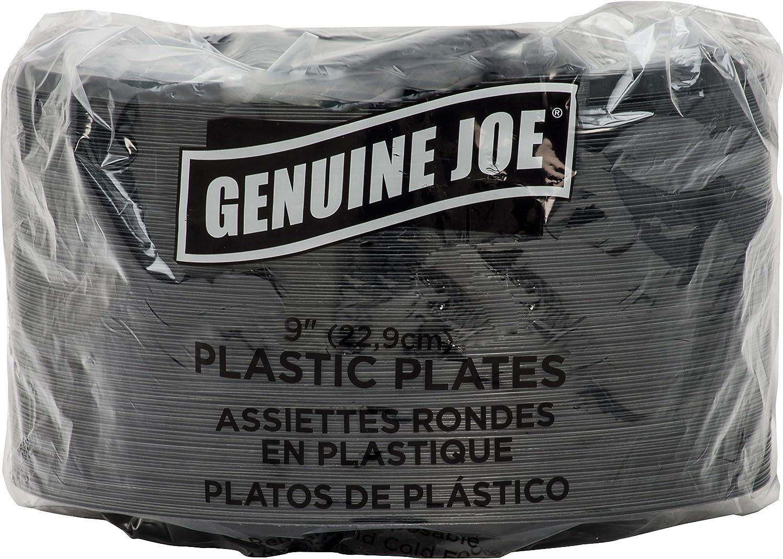 Genuine Joe GJO10429 Plastic Round Plate, 9