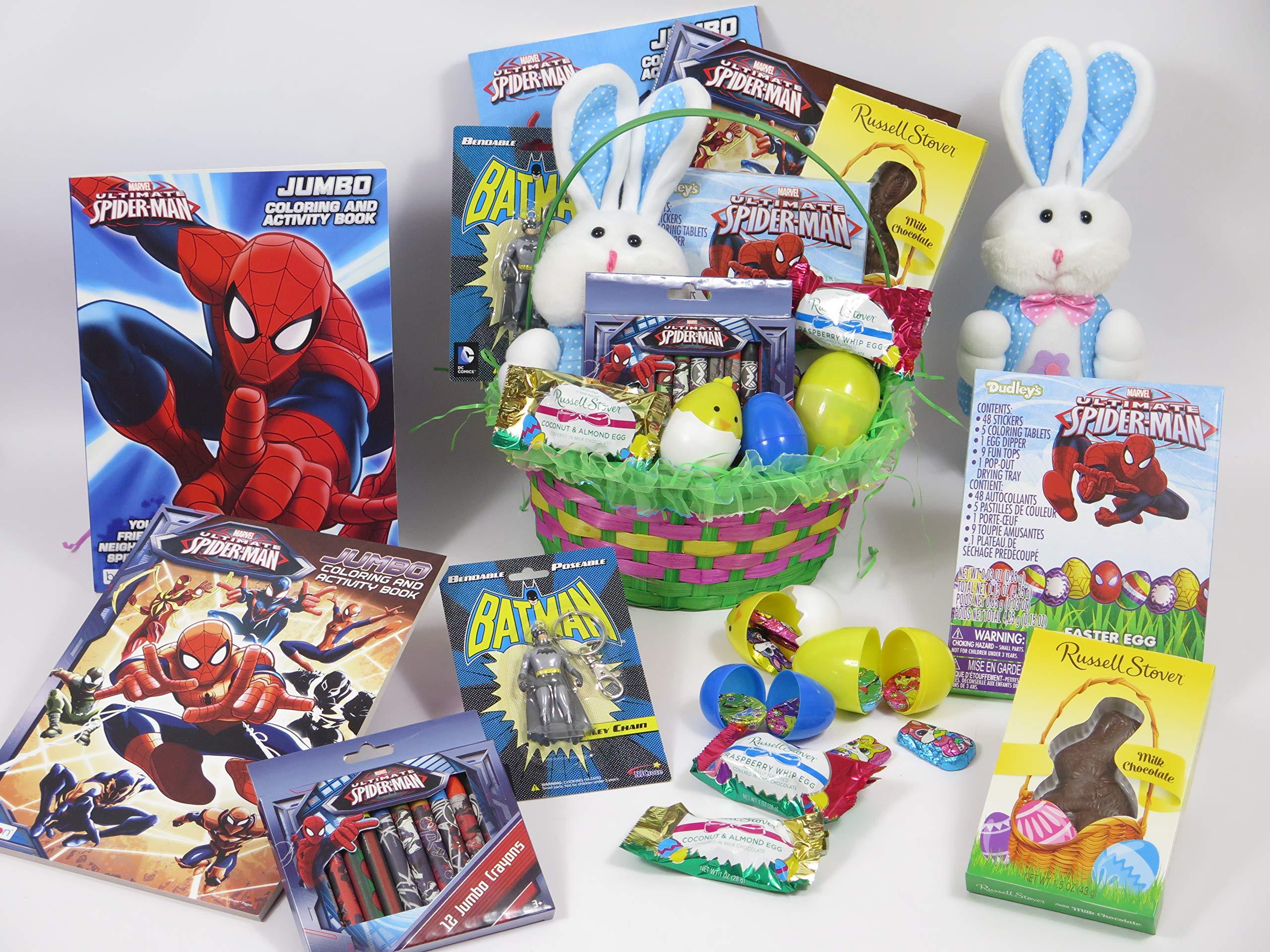 Boy's Easter Spiderman Green Basket.