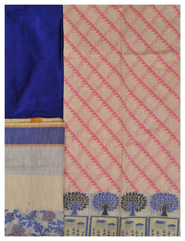 695c2a48a656c Exotic India Off-White Salwar Kameez Banarasi Fabric WI - Color Pink ...