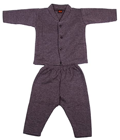 387315821 First Smile Front Open Baby Thermal Top   Pajama Set for Baby Boys ...