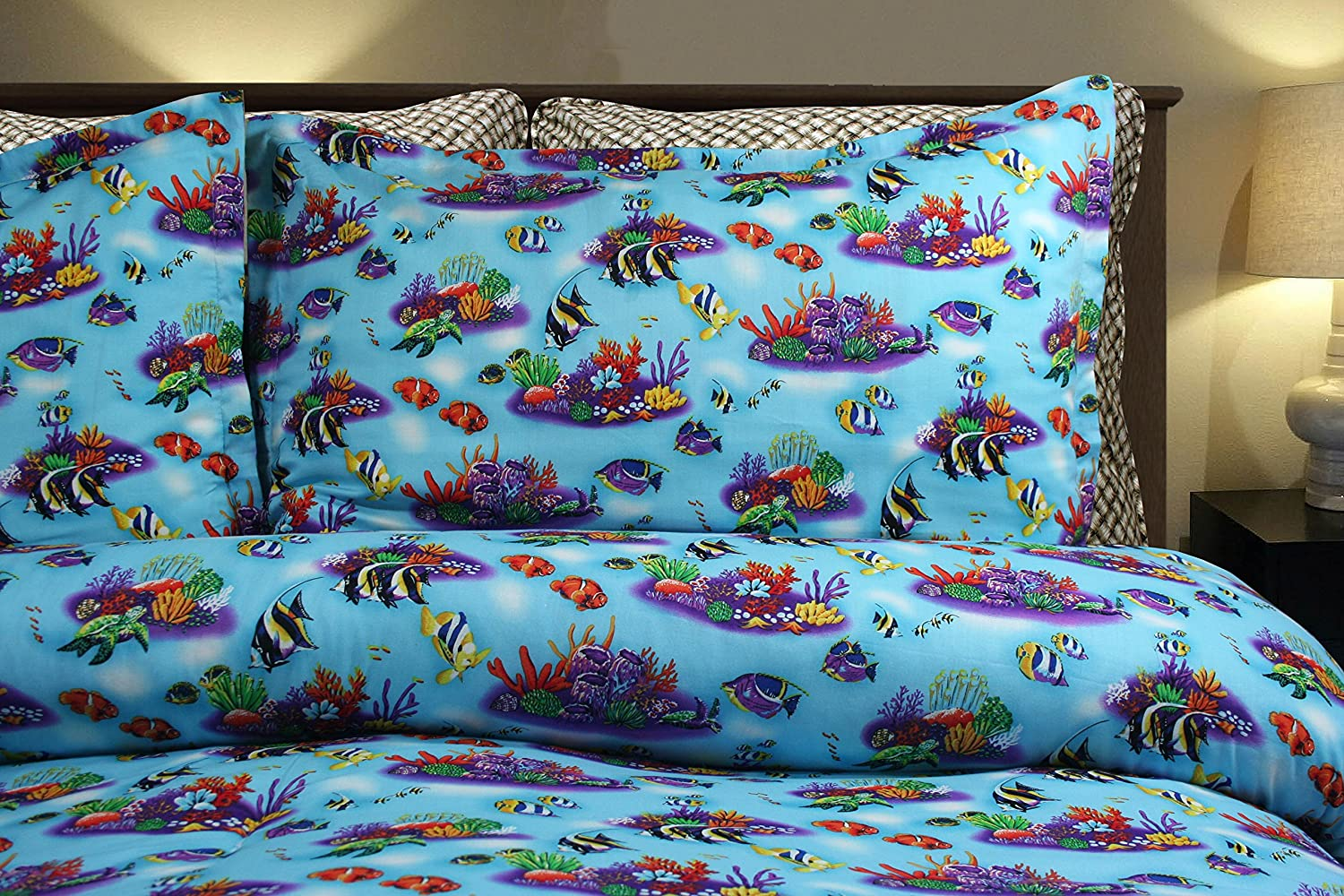 Fishing Under the Sea Queen / Full Bedding Set by Dean Miller