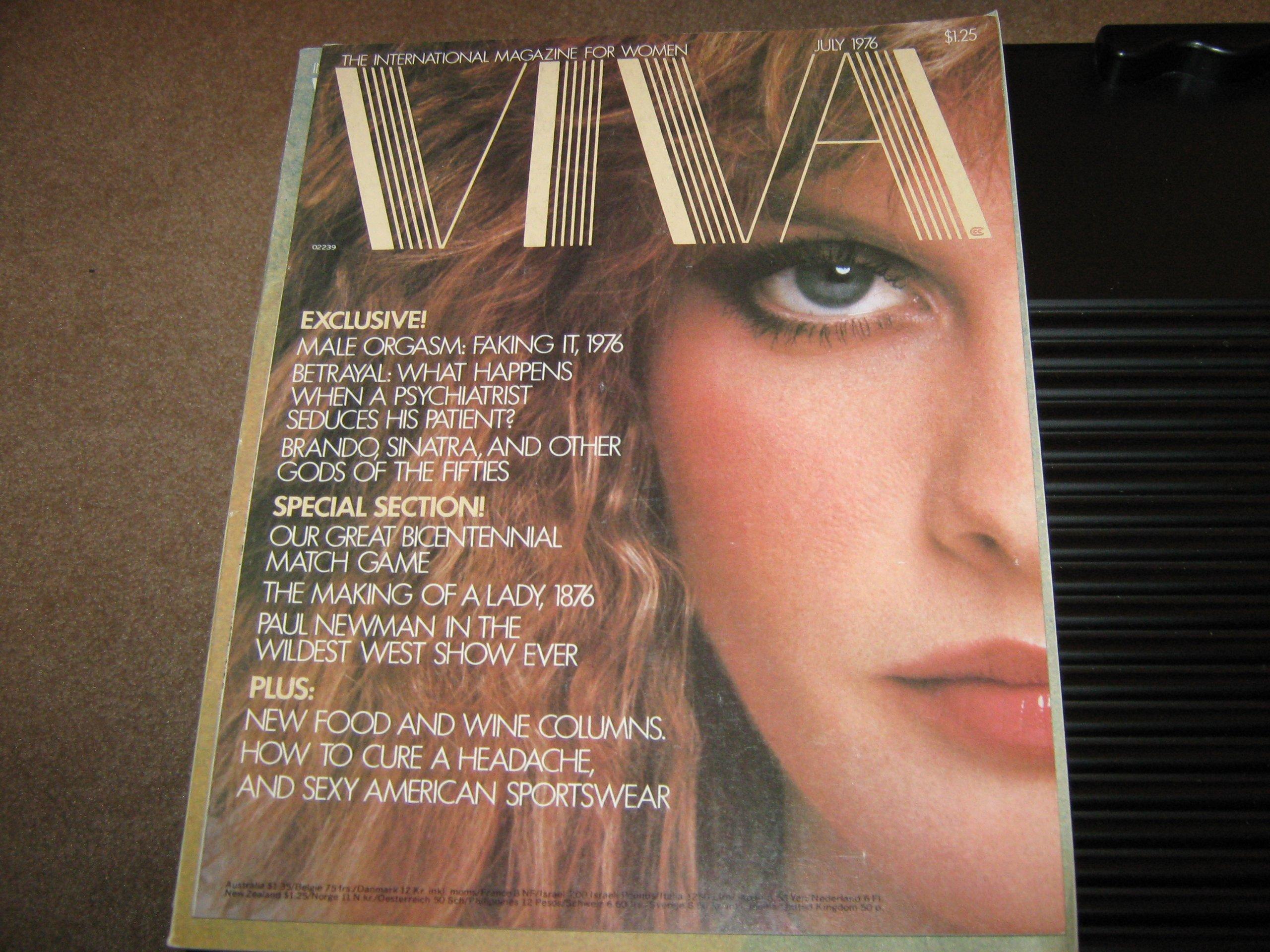 Viva Magazine (Brando , Sinatra , Paul newman , Male Orgasm , Psychiatrist  Betrayal, July 1976) Paperback – 1976