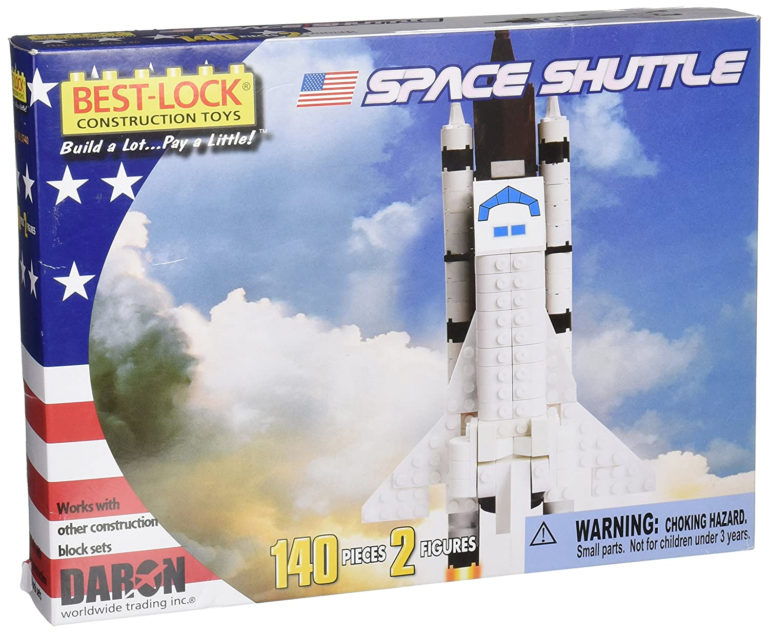 Space Shuttle 140 Piece Best Lock Construction Toy with Action Figure