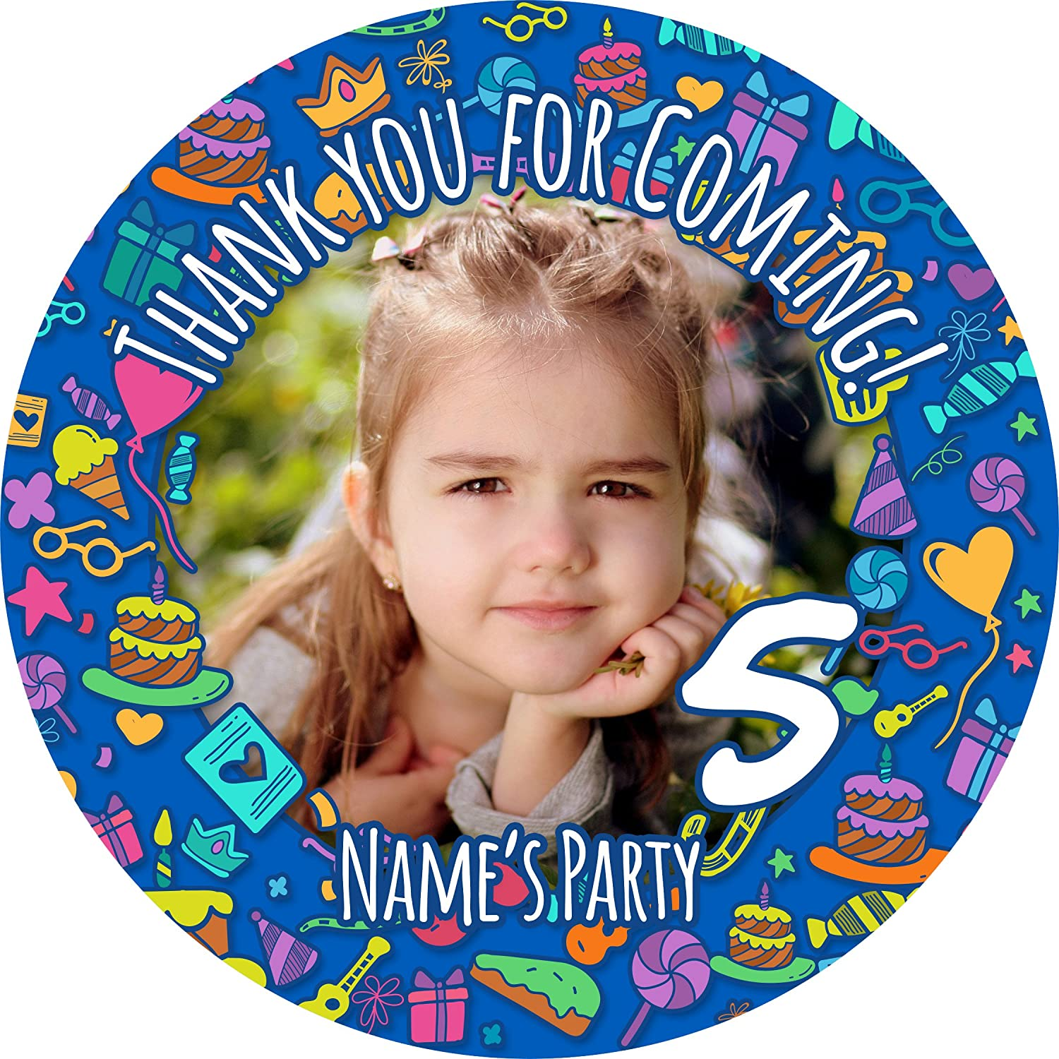 Bottles Presentations Gift Boxes Favours Crafts Safari Sticker Labels NON PERSONALISED Seals Ideal for Party Bags Sweet Cones Jars