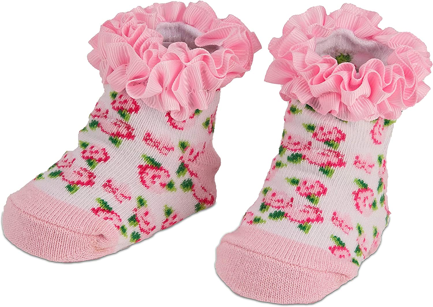 BRUBAKER 3 Pairs of Baby Socks Girls Boys 0-12 Months Stripes and Triangles