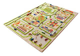 IVI Traffic 3D Play Rugs, Green, Large ToyCentre 121MD033YE13183