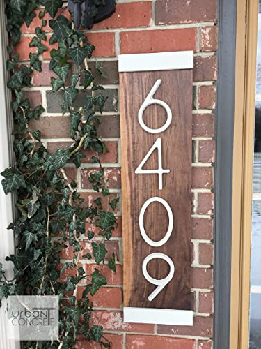 Amazon Com Modern House Numbers Vertical House Numbers Sign