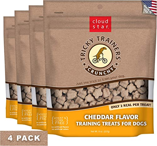Cloud Star Crunchy Tricky Trainers, Cheddar, 8-Ounce, Pack Of 4