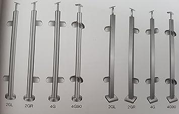 Bayram Edelstahl Gelander Glashalter Tragerplatte Treppenpfosten