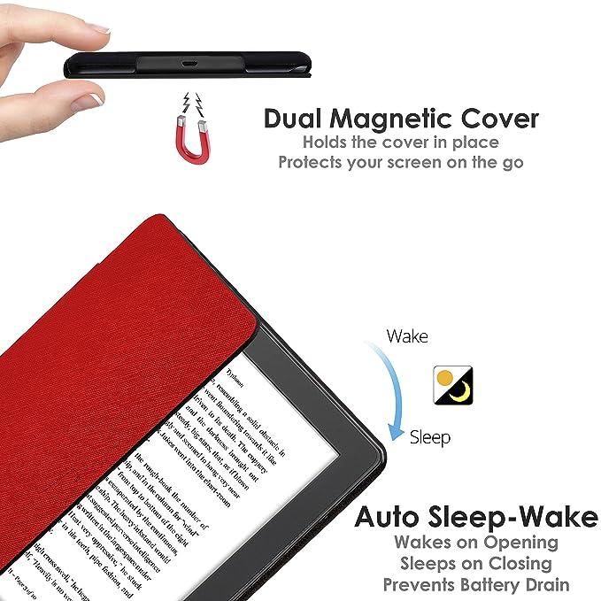 Forefront Cases® Kobo Aura H2O Edition 2 Funda Carcasa Stand Smart Case Cover: Amazon.es: Electrónica