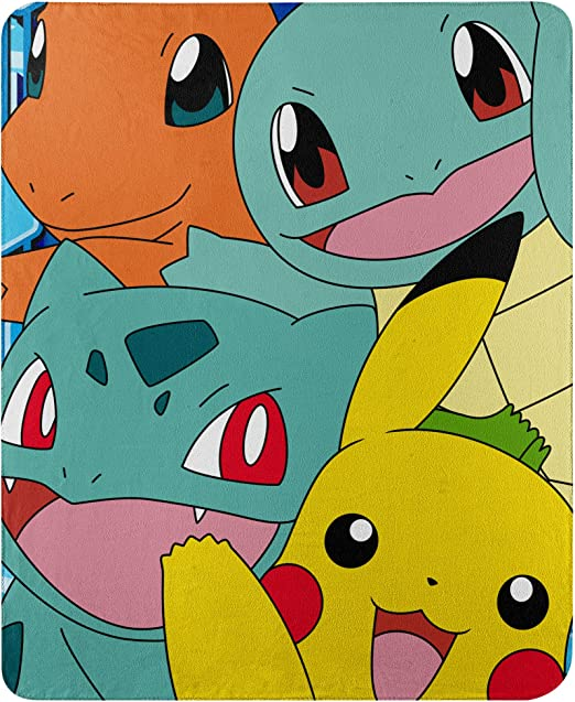 Pokemon Poke Ball Polar Fleece Large Throw Blanket Christmas Birthday Gift