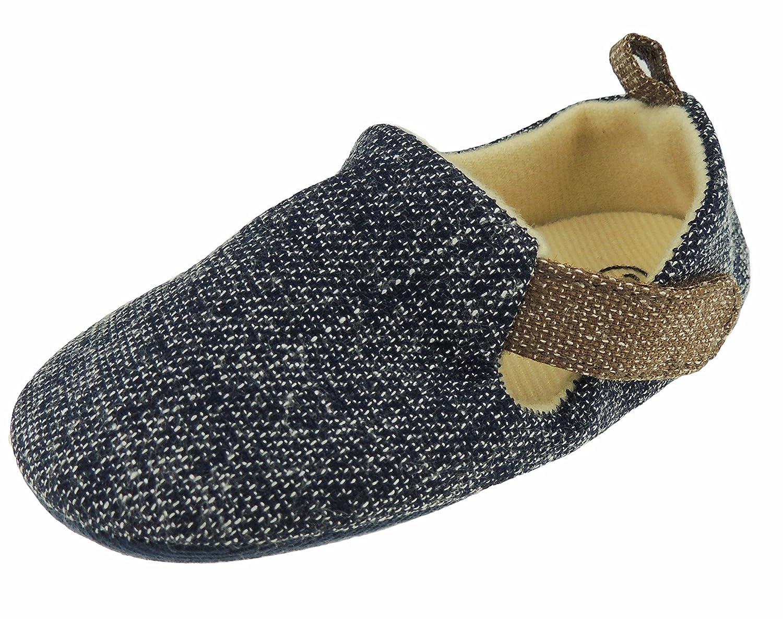 Baby Boys Smart Melange Speckled Sandals Slip On Pram Shoes 13 6-12 Months Blue