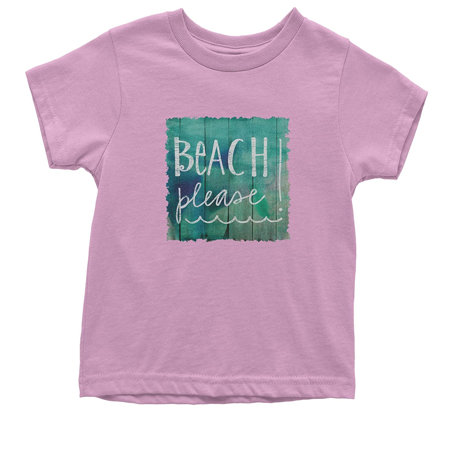 Expression Tees Beach Please Wood Background Youth T-Shirt