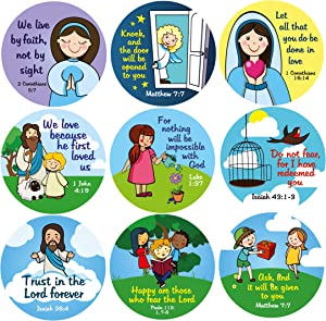 Win A Free Bible Verse Stickers Roll for Kids | Christian Stickers...