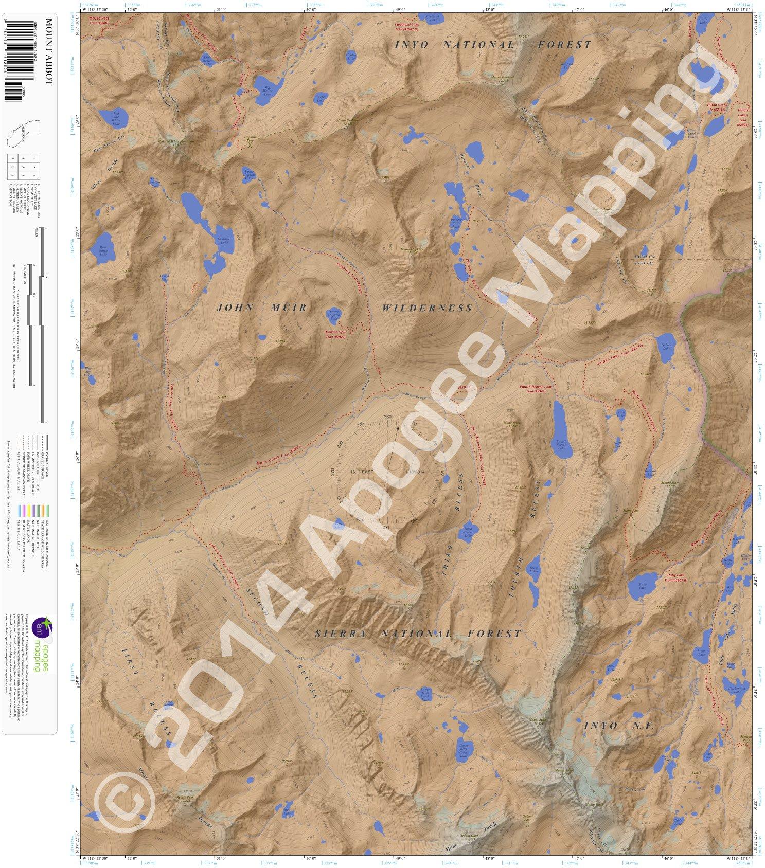 Mount Abbot, California 7.5 Minute Topographic Map - Waterproof Paper pdf epub