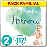 Pampers - Harmonie - Couches Taille 2 (4-8 kg) - Pack Familial (117 couches)