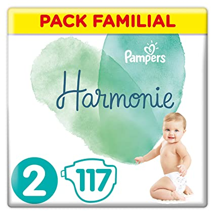 Pampers Harmonie Couches Taille 2 4 8 Kg Pack Familial 117