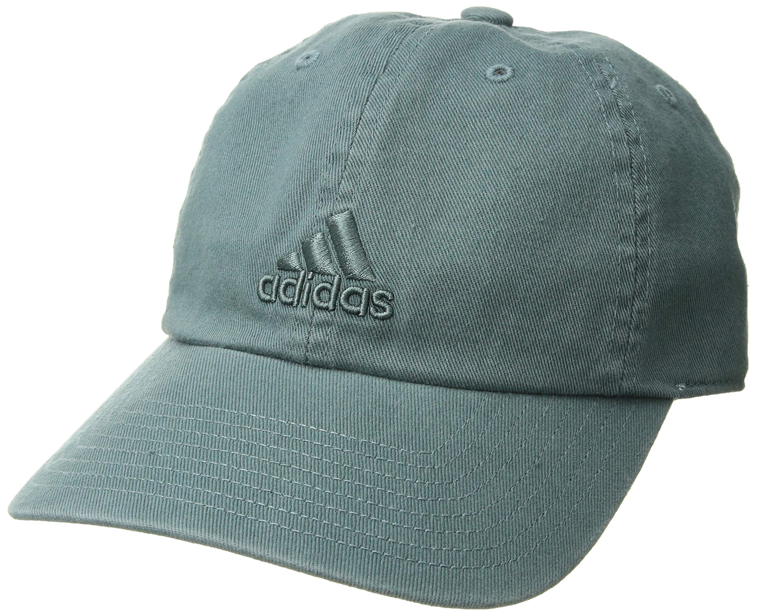 adidas Women's Saturday Relaxed Adjustable Cap, raw green, One Size