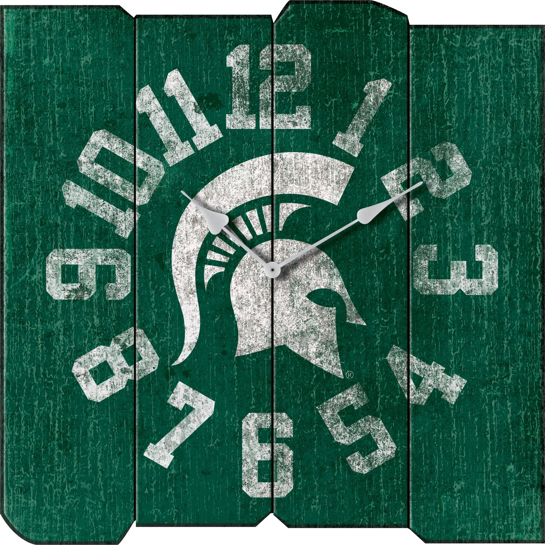 Imperial Officially Licensed NCAA Merchandise: Vintage Square Clock, Michigan State Spartans by Imperial