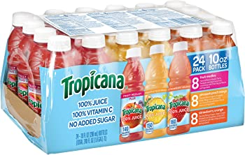 24-Count Tropicana 100% Juice 3-Flavor Fruit Blend Variety Pack