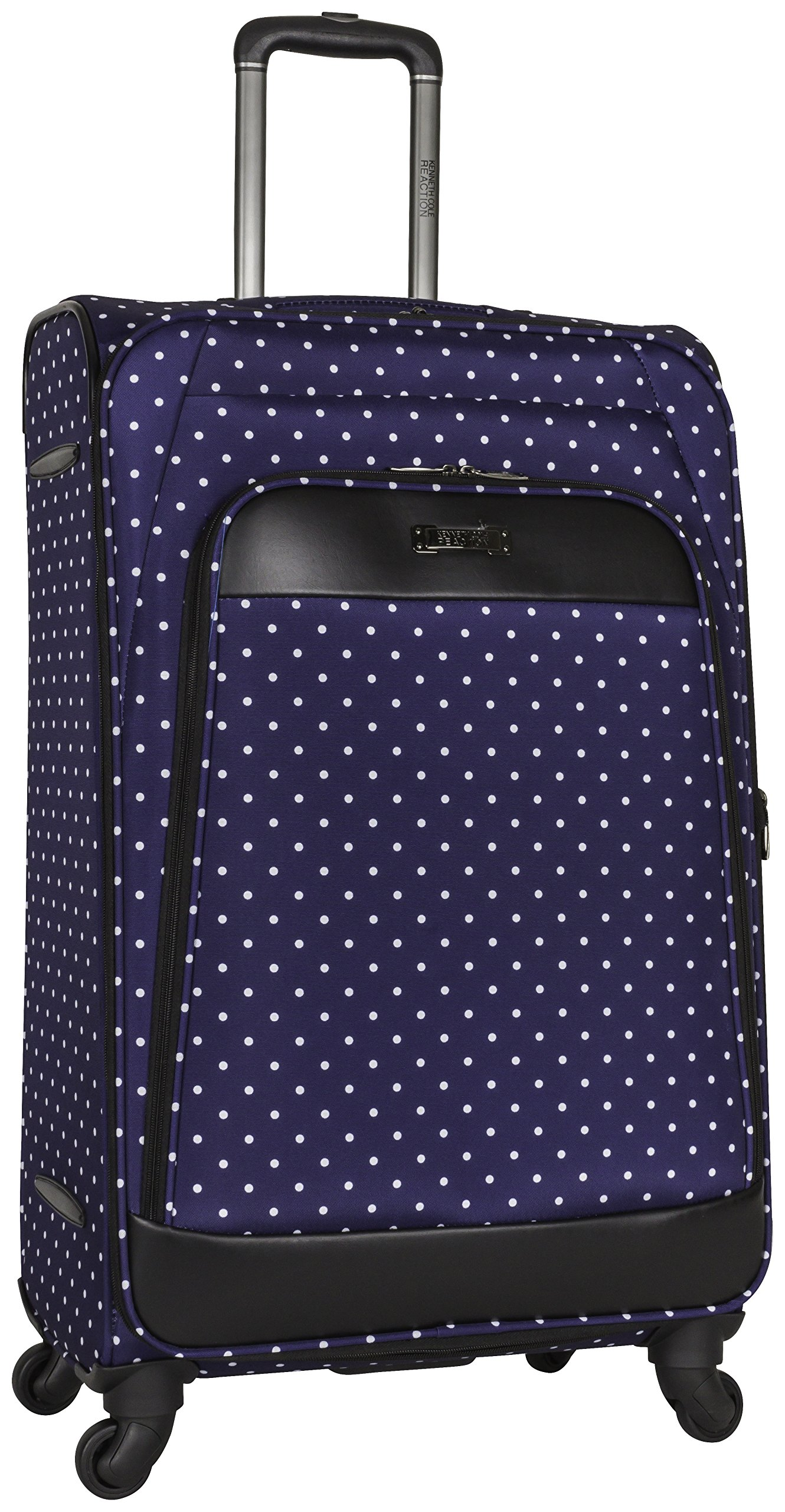 Kenneth Cole Reaction Dot Matrix 28'' Lightweight Expandable 4-Wheel Spinner Checked Luggage, Navy