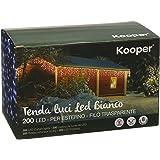 Kooper Tenda di Stelle 200 LED, Per Esterno, Bianco