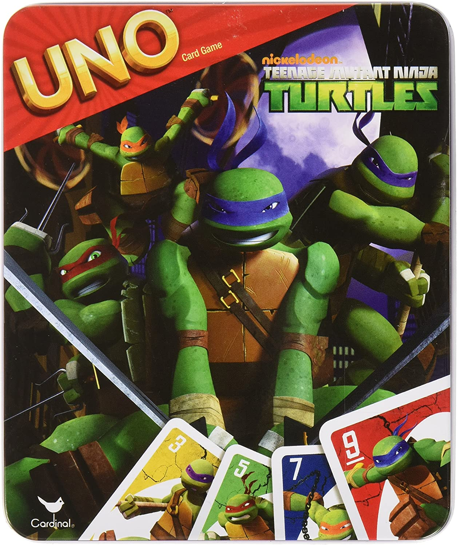 UNO Card Game in Tin Box: TMNT Teenage Mutant Ninja Turtles