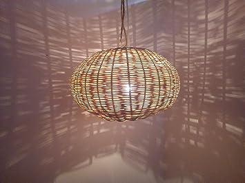 Lustre marocain lampe applique lanterne osier orientale hippy