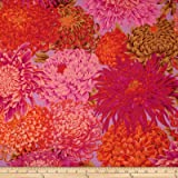 Kaffe Fassett Collective Japanese Chrysanthemum Pink Fabric By The Yard