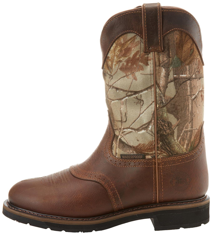 ac5b0df406ddb Amazon.com: Justin Original Work Boots Men's Stampede Camo Waterproof WK Work  Boot: Shoes