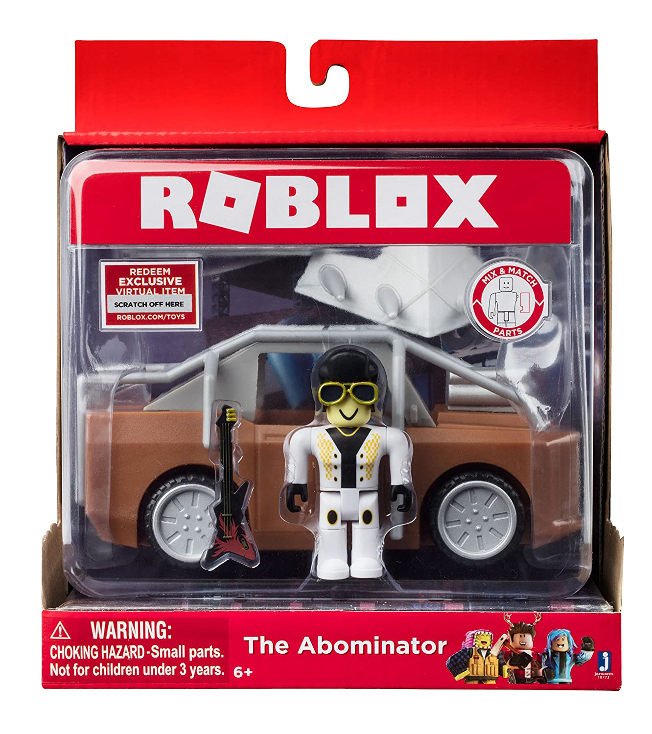 Rublix Toys Green Bay : Roblox the abominator figure with vehicle virtual item