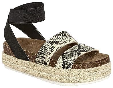 59d07205f7b MVE Shoes Women s Strappy Fashion Espadrille Flatforms