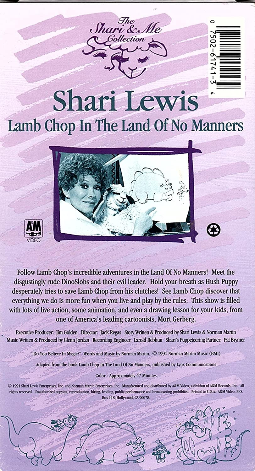 amazon com lamb chop in the land of no manners vhs shari lewis