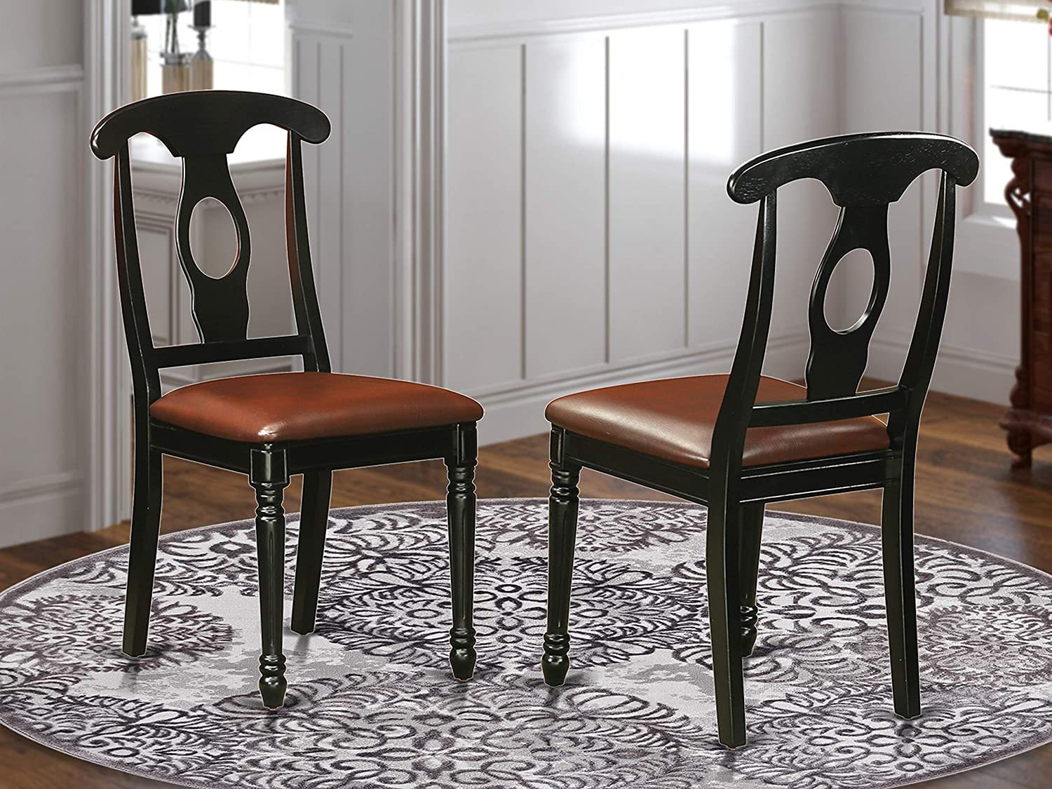 Kenley Nappoleon-Styled Dining room Chair with faux leather upholstered Seat