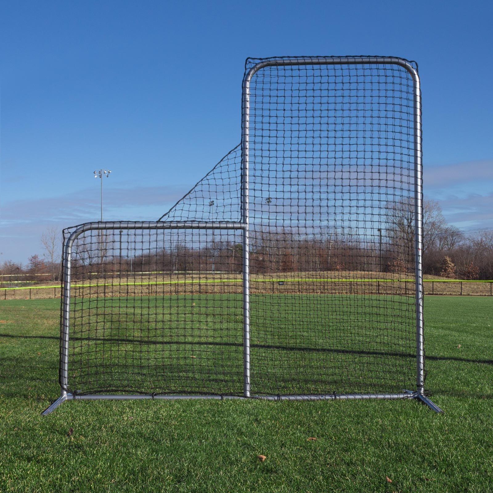 Champro Pitcher's Safety L-Screen - 7'x7' w/ 40'' Drop by CHAMPRO