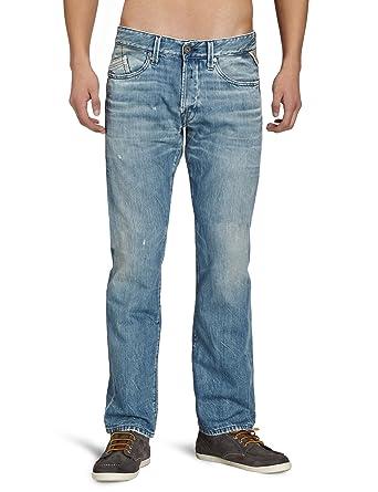 cc5d85d5 Replay Men's Waitom M983 .000.504 905 Straight Leg Jeans, Mid Blue Laser  Blast,