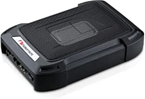"""Nakamichi NBF609A 1000W Max 6"""" X 8"""" Sealed Under Seat Car Audio Powered Subwoofer Enclosure W/ Built-In Amplifier Full Aluminum Casting Body and Wired Remote Control Included"""