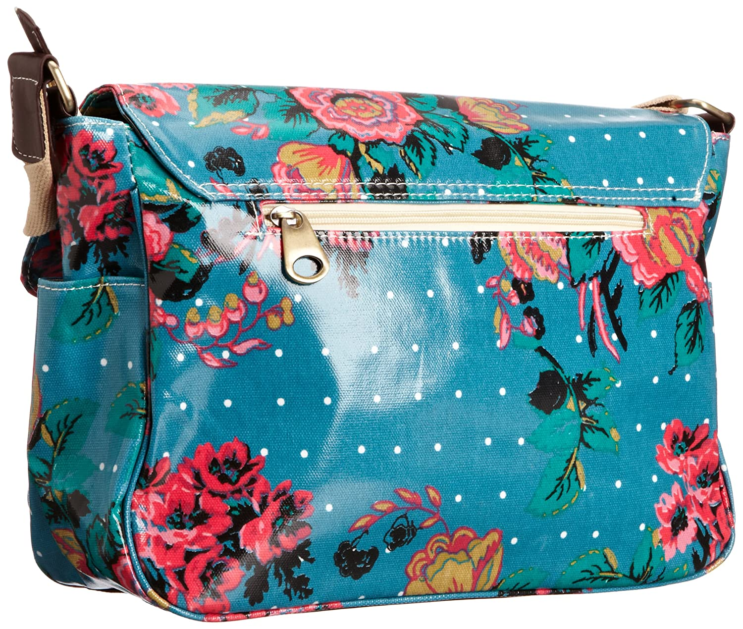 SwankySwans Perry Floral & Polka Dot Laminate, Girls' Satchel, Green, One  Size: Amazon.co.uk: Shoes & Bags