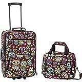 Rockland Luggage 2 Piece Set, Owl, One Size
