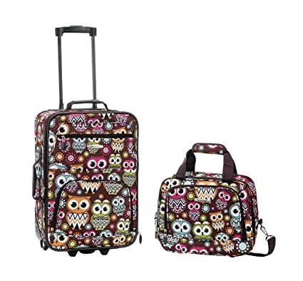 Rockland Luggage 2 Piece Set, Owl, One Size