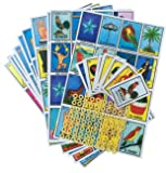 Naipes Gacela Loteria Mexicana Family Board Game - Set of 20 Jumbo Boards and Deck of 54 Cards