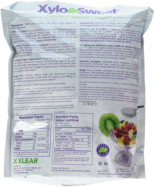 Amazon.com: XyloSweet Non-GMO Xylitol Natural Sweetener, Granules ...