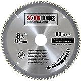 Saxton TCT, lama per sega circolare per legno, 210 mm x 30 mm, 80 denti per Festool, Dewalt Bosch, Makita, ecc.